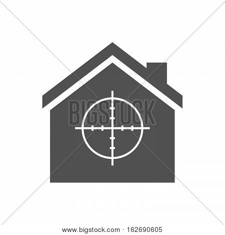 Isolated House With A Crosshair