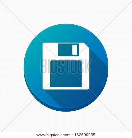 Isolated Button With A Floppy Disk