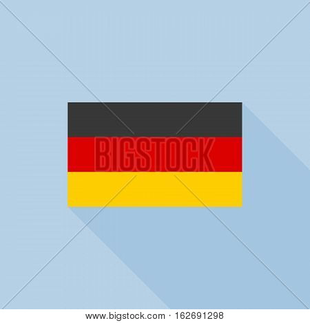 Germany flag , flat design vector with official proportion