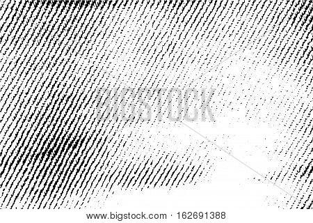 Vintage cloth texture black and white vector illustration. Rough retro background. Vectorized textile texture. Scalable texture of jeans cloth. Fashion texture. Grungy textile closeup backdrop image