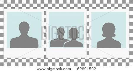 template photo frames for family album, the concept of a family between man and woman, vector template frame