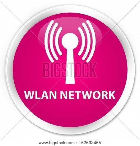 Wlan Network Premium Pink Round Button