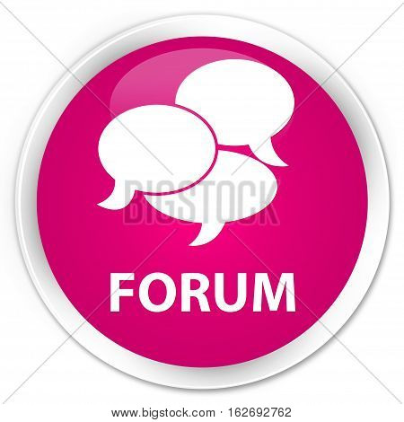 Forum (comments Icon) Premium Pink Round Button