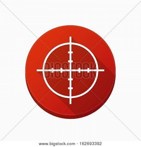 Isolated Button With A Crosshair
