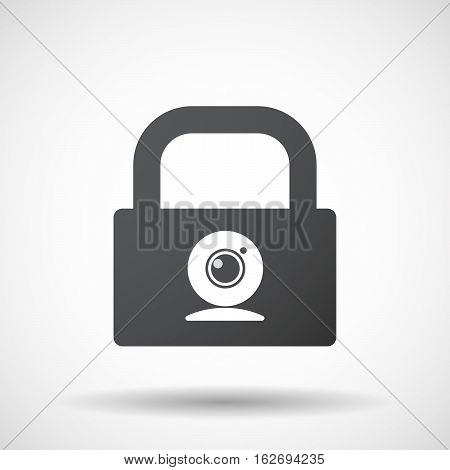 Isolated Lock Pad With A Web Cam