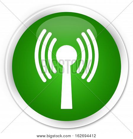 Wlan Network Icon Premium Green Round Button