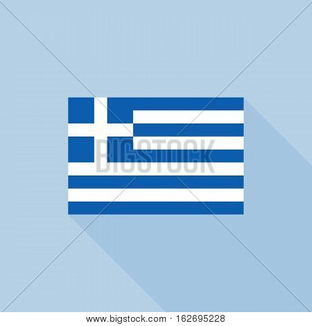 Greece flag , flat design vector with official proportion
