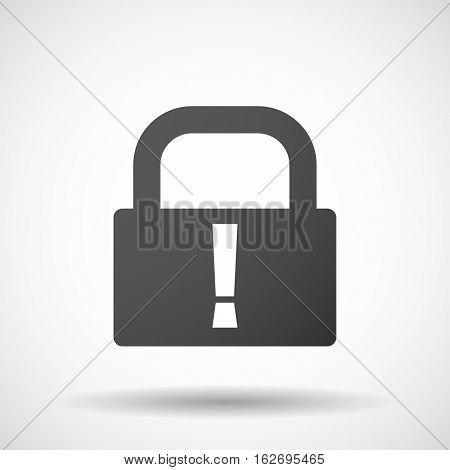 Isolated Lock Pad With An Admiration Sign