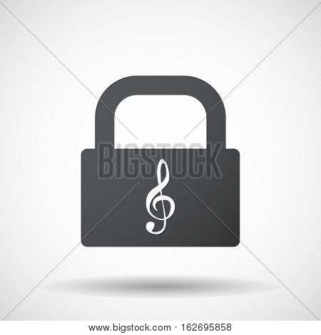 Isolated Lock Pad With A G Clef