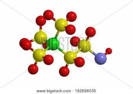 Molecular structure of choline water soluble vitamin (B-complex) 3D rendering