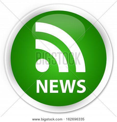 News (rss Icon) Premium Green Round Button