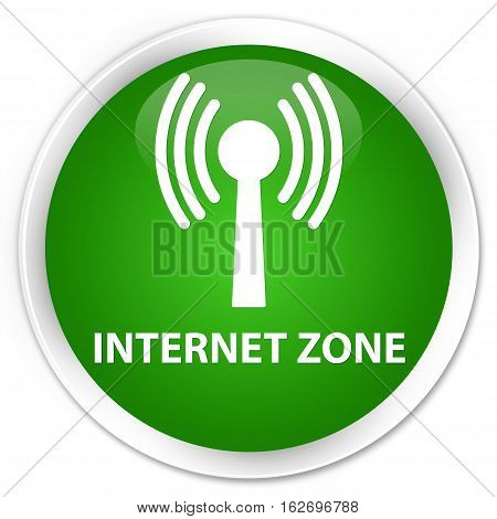 Internet Zone (wlan Network) Premium Green Round Button