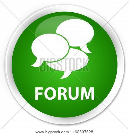 Forum (comments Icon) Premium Green Round Button