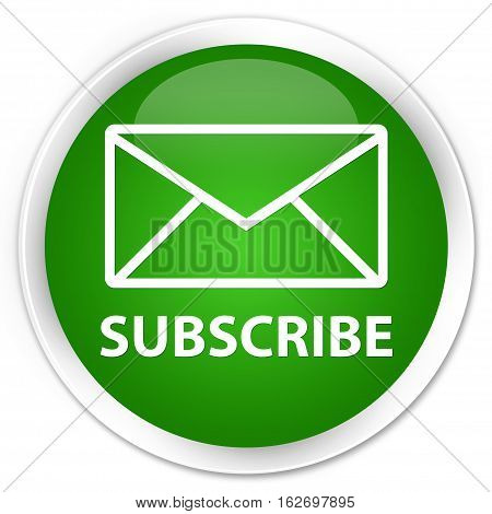 Subscribe (email Icon) Premium Green Round Button