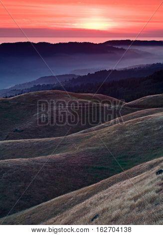 Bolinas Ridge is a north-south ridge in southwestern Marin County, California.