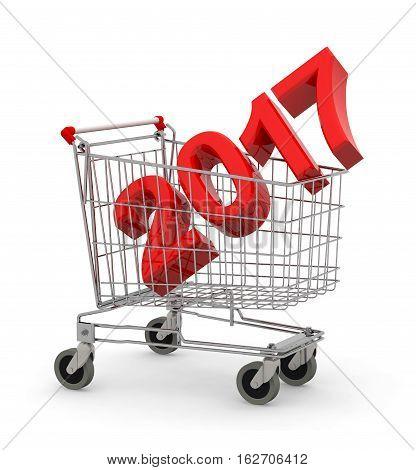 2017 Inside Metal Shopping Cart Trolley