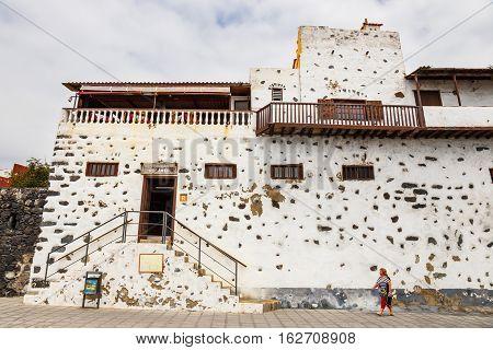 Garachico, Tenerife Island, Spain, 08 June 2015: Street Of Garachico Town On Tenerife Island, Canary