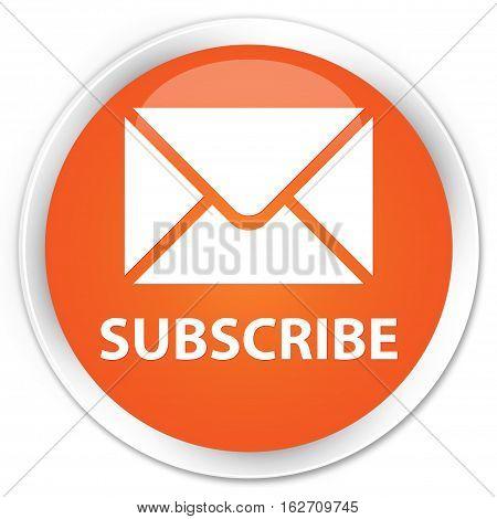 Subscribe (email Icon) Premium Orange Round Button