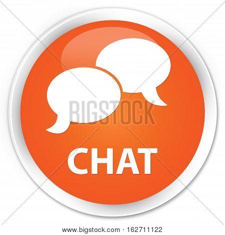 Chat Premium Orange Round Button