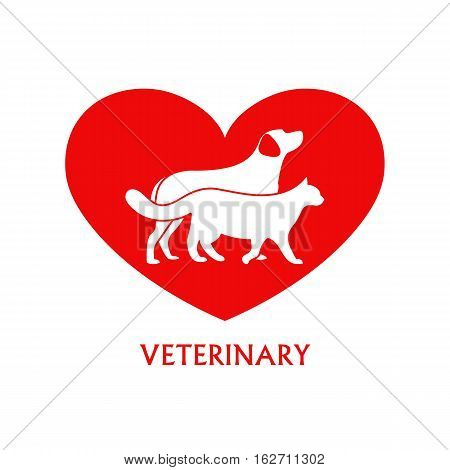 Vector logo design template for pet shops and veterinary clinics