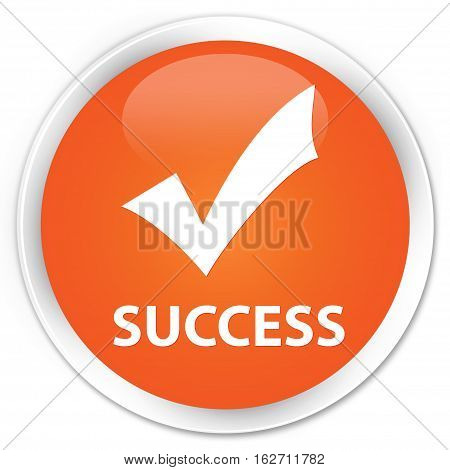 Success (validate Icon) Premium Orange Round Button