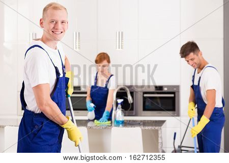 House Cleaner With Friends