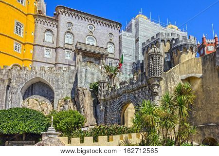 Pena National Palace in Sintra (Palacio Nacional da Pena) Portugal.