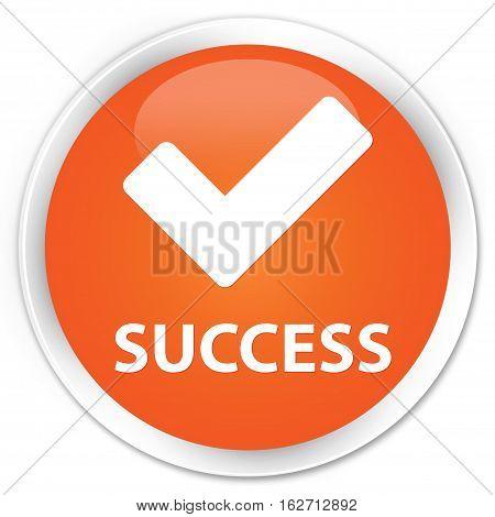 Success (validate Icon) Premium Orange Round Button