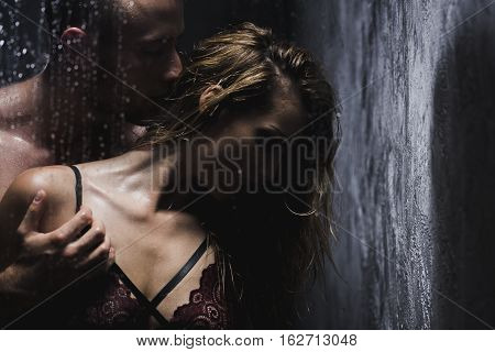 Couple Taking A Shower