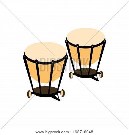 Percussion drum icon. Ethnic drum. Vector illustration.