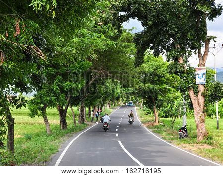 Rural Road In Lombok Island, Indonesia
