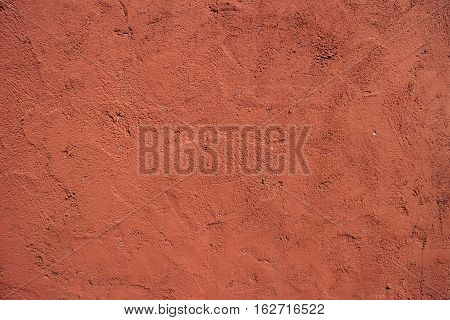 Cement Wall Background  and Texture Red Color