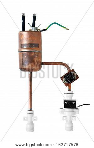 Water Heater Tank isolated on white background clipping path