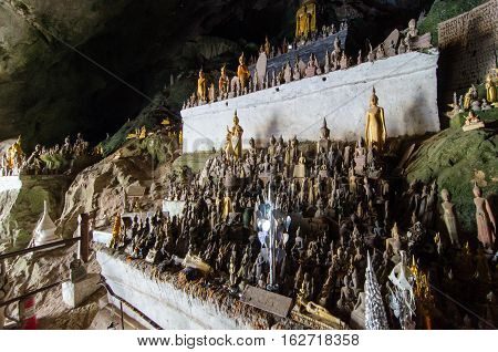 The Pa Ou Caves in Laos is considered one of the holiest Buddhist sites in the country.