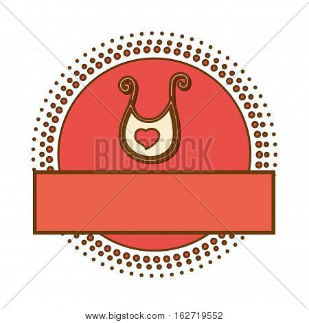 bib baby shower related emblemimage vector illustration design