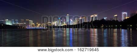 Nanning, China - September 18: View At The Modern Business City