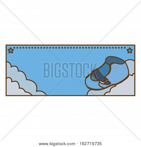 shoe boy baby shower related emblem  image vector illustration design
