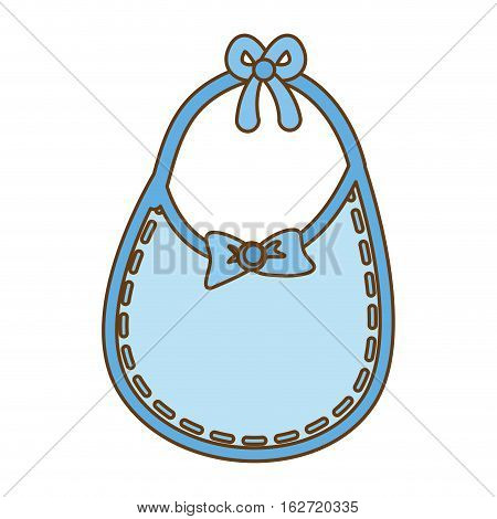 bib baby shower related icon image vector illustration design