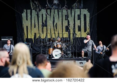 TOLMIN, SLOVENIA - JULY 25TH: GERMAN DEATH METAL BAND HACKNEYED PERFORMING THEIR LAST SHOW AT METALDAYS FESTIVAL ON JULY 25TH, 2016 IN TOLMIN, SLOVENIA
