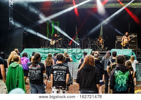 TOLMIN, SLOVENIA - JULY 25TH: AMERICAN POST-METAL BAND ROSETTA PERFORMING AT METALDAYS FESTIVAL ON JULY 25TH, 2016 IN TOLMIN, SLOVENIA