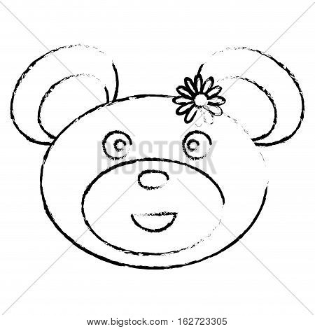 teddy bear icon image vector illustration design