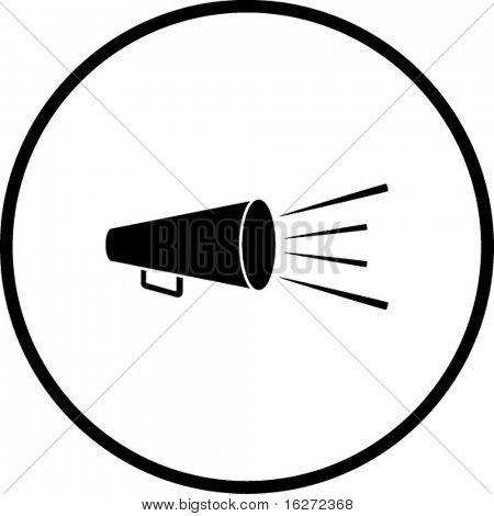 símbolo del megáfono