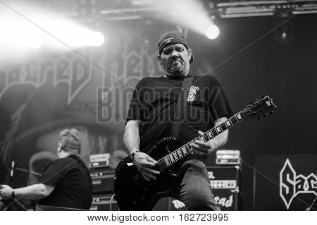 TOLMIN, SLOVENIA - JULY 25TH: AMERICAN THRASH METAL BAND SACRED REICH PERFORMING AT METALDAYS FESTIVAL ON JULY 25TH, 2016 IN TOLMIN, SLOVENIA