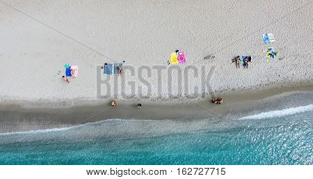 Aerial View Of The Beaches Of Greek Island Of Milos Island