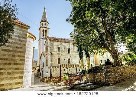 Budva.Montenegro.03 june 2015.Old town of Budva in Montenegro in summertime.