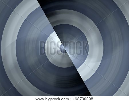 Metallic blue spinning wheel technology computer generated abstract background 3D rendering