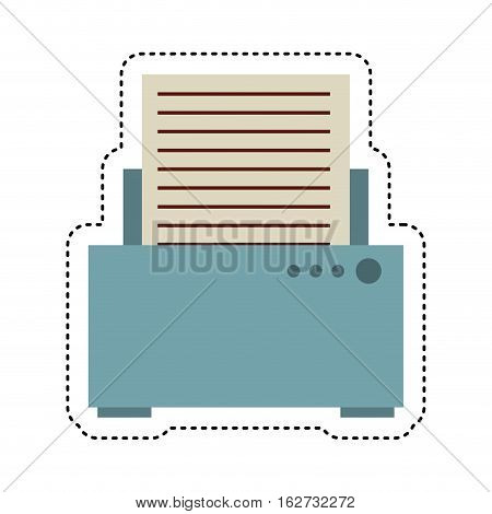 printer device isolated icon vector illustration design