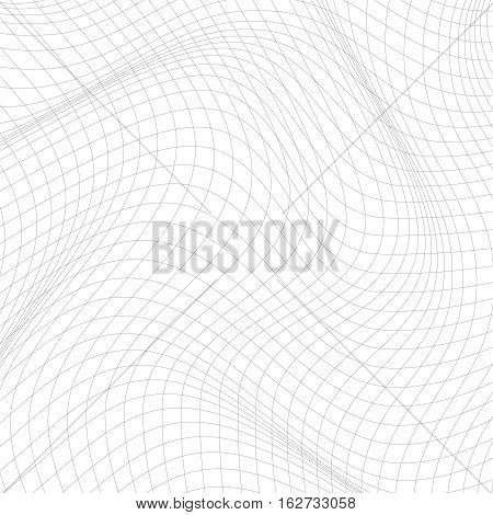 Abstract Background With Distorted Lines.