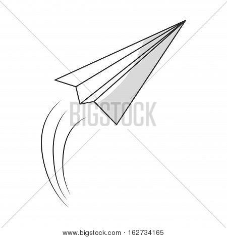 paper plane message icon image vector illustration design
