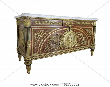 A Fine Louis XVI Style Gilt-Bronze Mounted Commode, After An Eighteenth Century Model By Benneman.